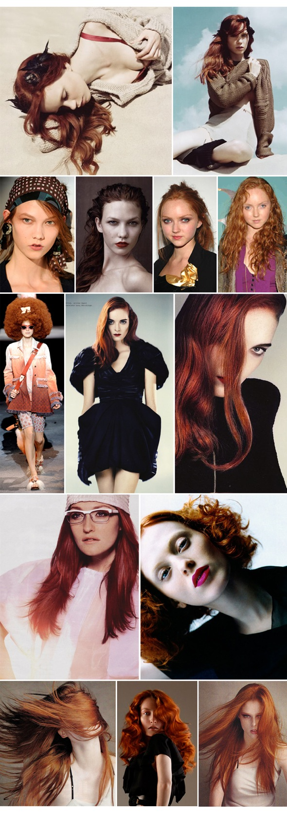 Red hair looks