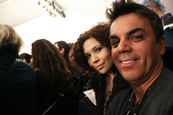 Eu e o Ivan Aguilar no desfile do Mike Cire
