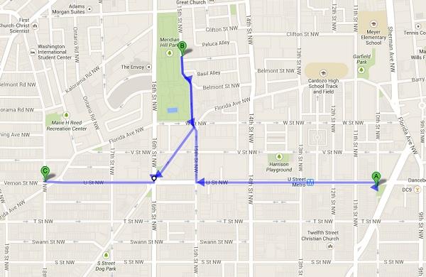 U Street_Mapa